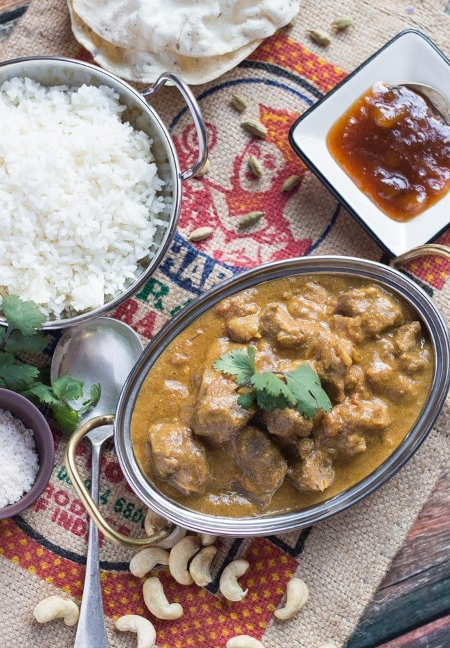 A Truly Quick & Easy Slow Cooker Lamb Korma Curry