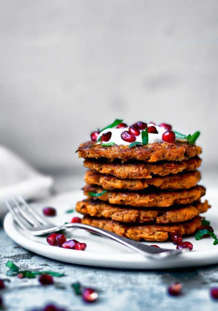 Spicy Sweet Potato Pancakes