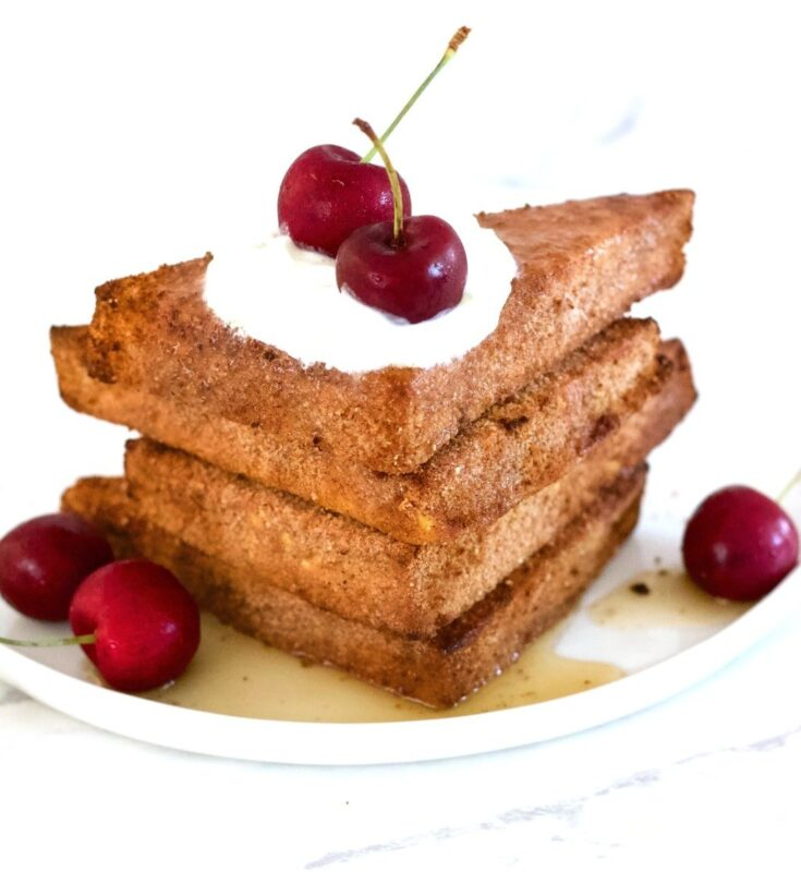 "Air-Fryer Vegan French ""Toast"" (Keto + Gluten-Free + Sugar-Free)"