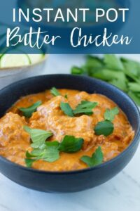 This Instant pot butter chicken is going to be your new favourite instant pot recipe. It is low carb, gluten free, dairy free and will be ready to serve in 30 minutes.