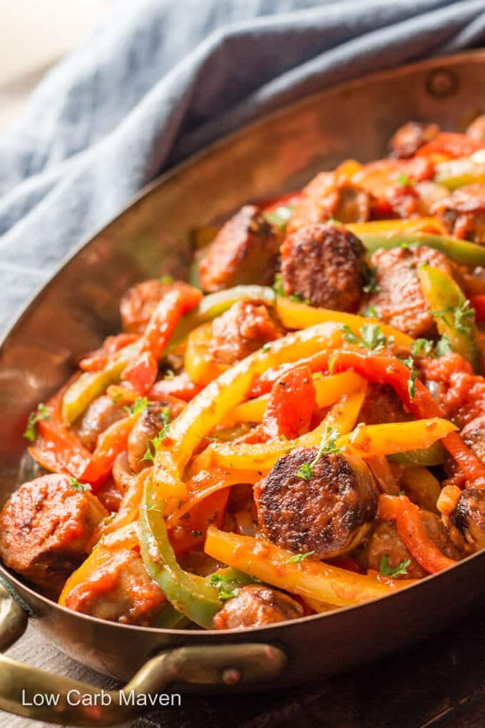 Italian Sausage, Peppers and Onions with Sauce
