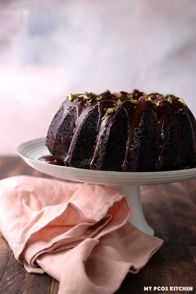 Low Carb Keto Chocolate Cake with Zucchini