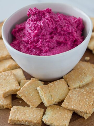 This easy to make Beetroot Hummus will be a winner at your next party or dinner. It involves minimal prep and only a few ingredients.