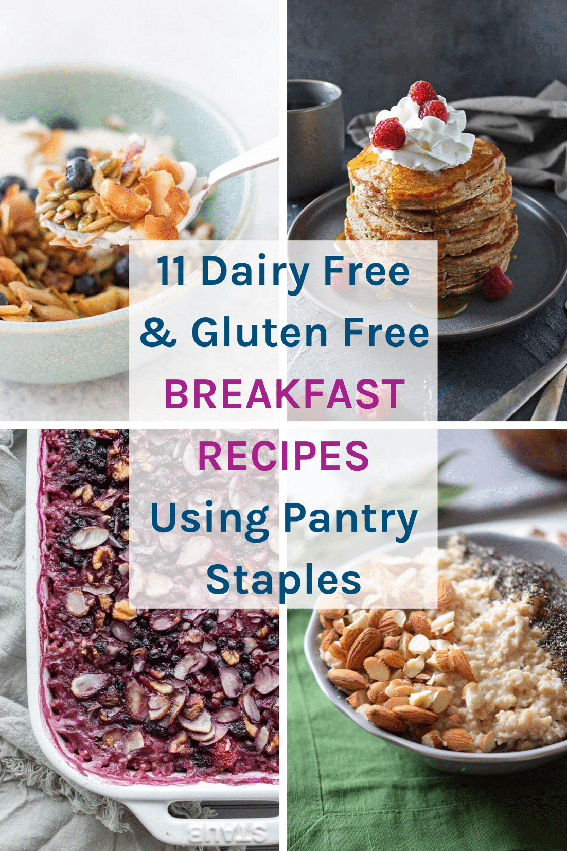 11 Gluten and Dairy Free Breakfast Recipes Using Pantry Staples - These are all healthy recipes that use up pantry staples that you should keep a few weeks stock of in your pantry that you can rely on during emergencies.