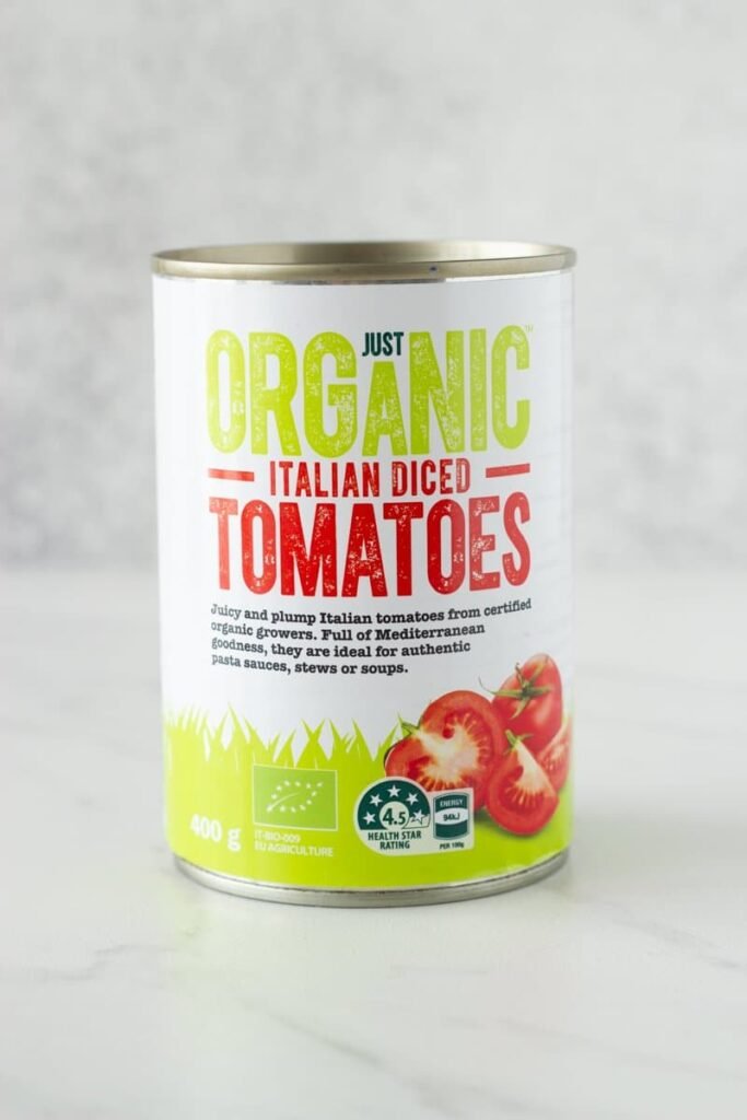 Basic Italian Tomato Sauce - this is my family recipe which has been passed down from generation to generation. It is made with 4 simple ingredients - diced tomatoes, tomato paste, garlic and olive oil.
