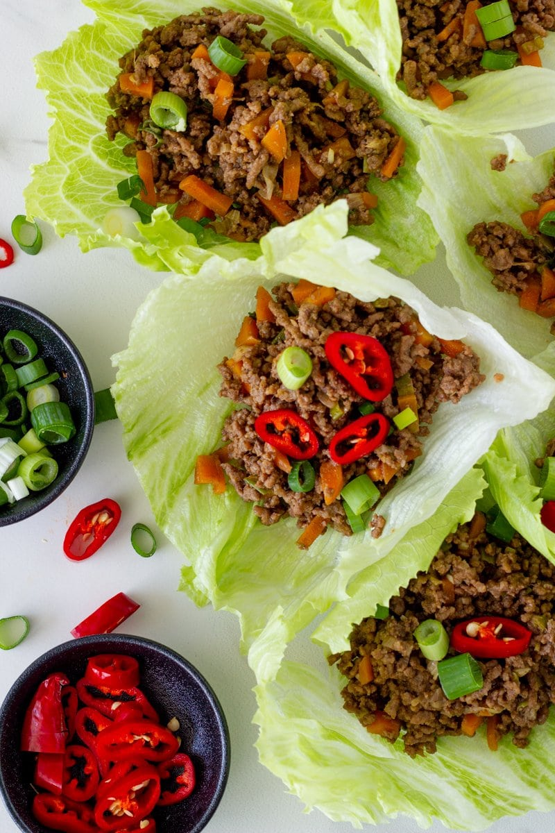 Beef Lettuce Wraps are the perfect weeknight meal. Made in less than 30 minutes, these beef mince lettuce cups are packed full of yummy flavour and will be a hit with your family. You can also prepare the mince ahead of time.