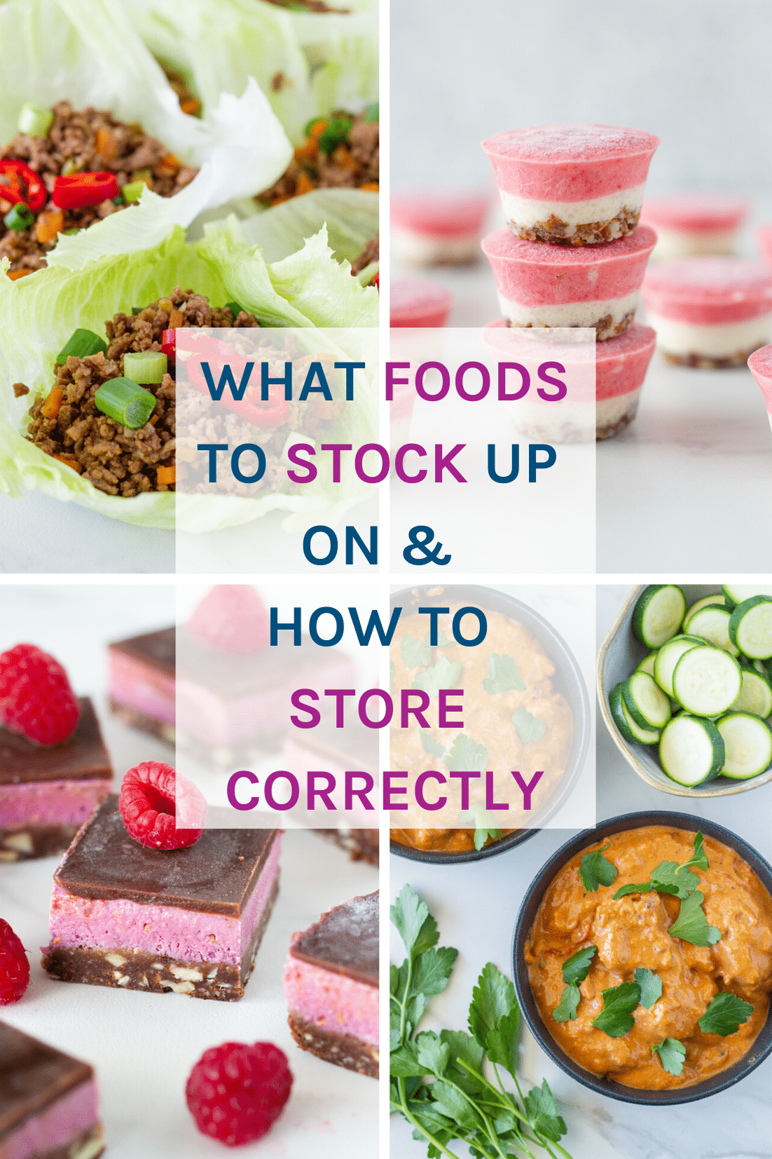 What foods to stock up on and how to store correctly. This posts contains my tips to help with what foods to purchase in times of crisis, how to store them correctly and also provides options so you can continue to make all your favourite healthy recipes.