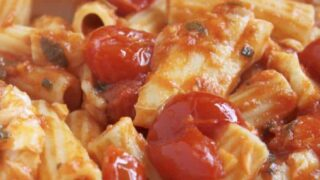 Fish in Tomato Sauce (Quick and Easy) with Pasta