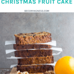 How the gluten free christmas fruit cake looks when made