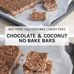 how the Nut Free Chocolate & Coconut No Bake Bars look when ready