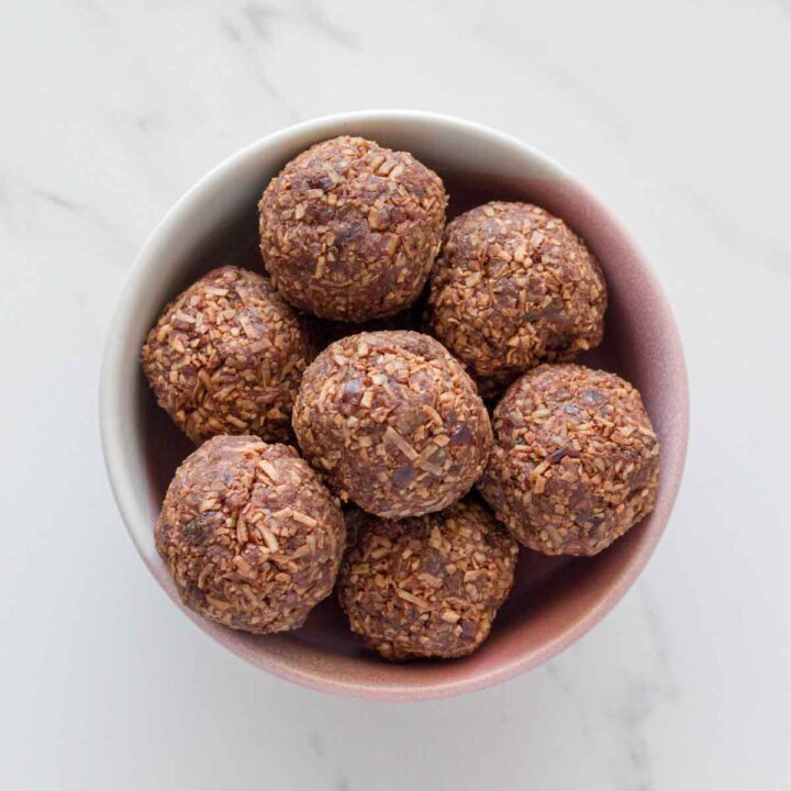 Peppermint Coconut Rough Bliss Balls