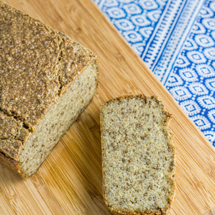 how the Quinoa & Chia Seed Bread looks when ready to eat