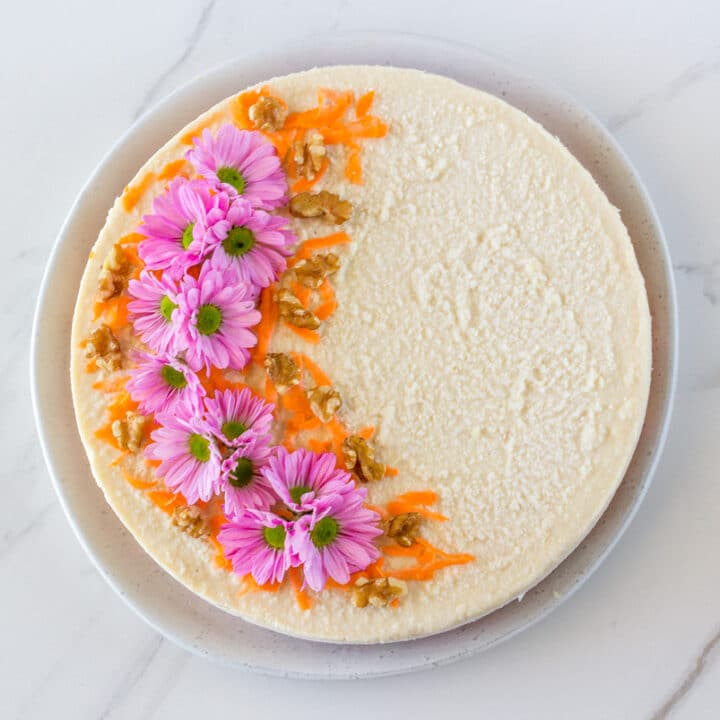a photo of the Raw Carrot Cake with Macadamia Frosting