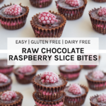How the Raw chocolate raspberry slice bites look when made