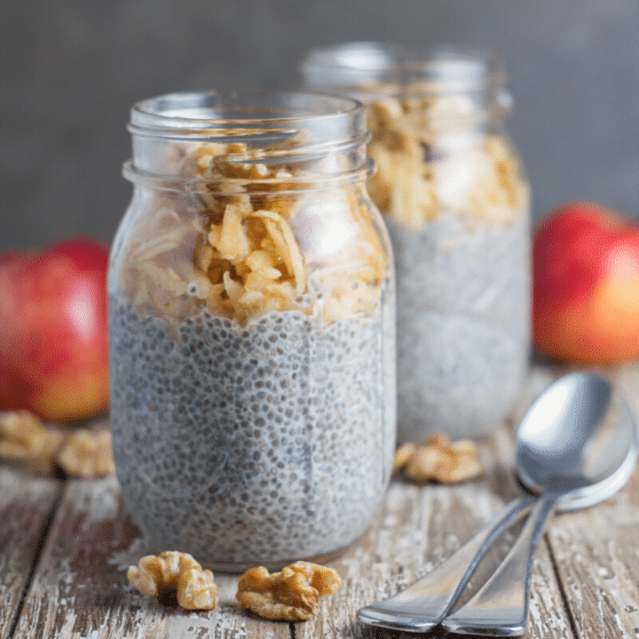 Apple and Walnut Chia Pudding
