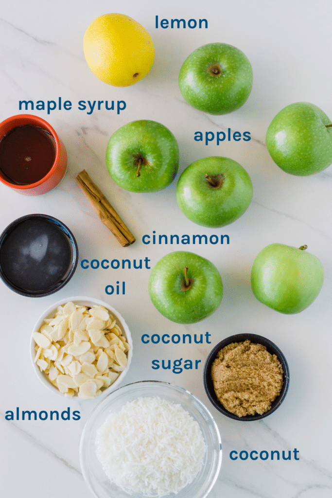 photo of ingredients you need to make this apple crumble