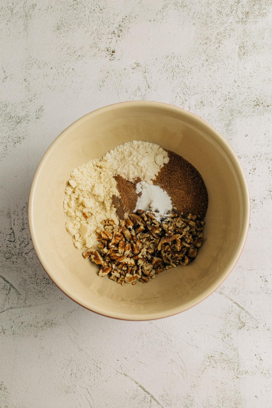 Image of dry ingredients in a mixing bowl