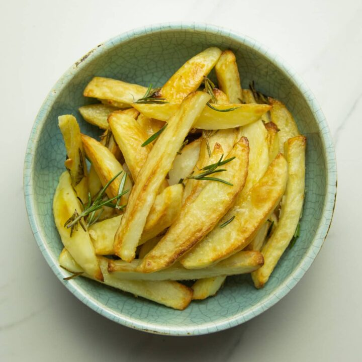 bowl of healthy oven baked fries