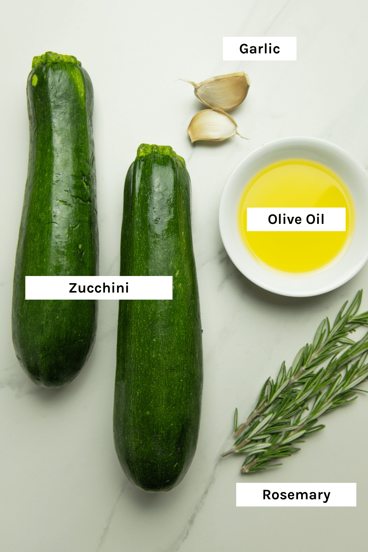 photo of ingredients needed to make these oven baked zucchini wedges