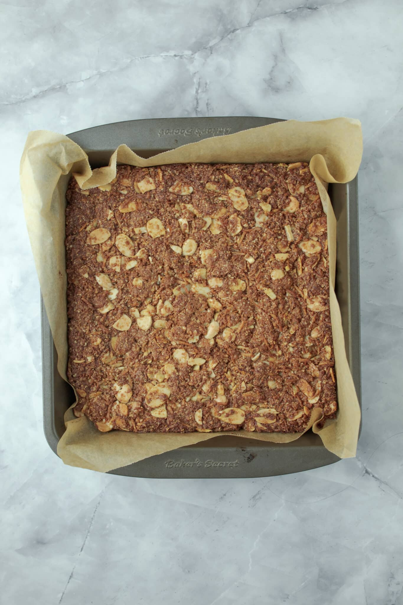 photo of the baked Anzac slice