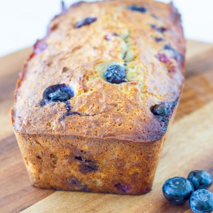 Low Carb Banana & Blueberry Bread